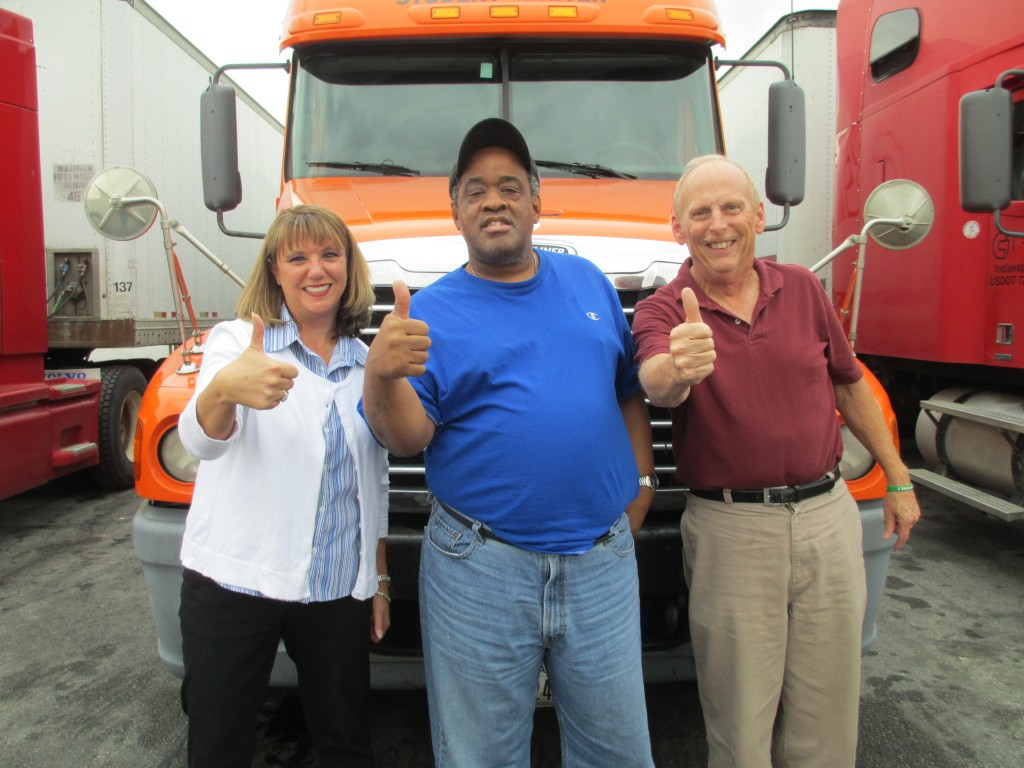 David's dream of riding in a semi truck came true through the help of Noble staff and the Noble Dream Team.