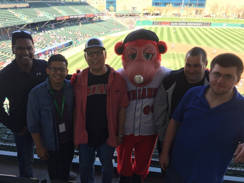 Cheering on the Indianapolis Indians