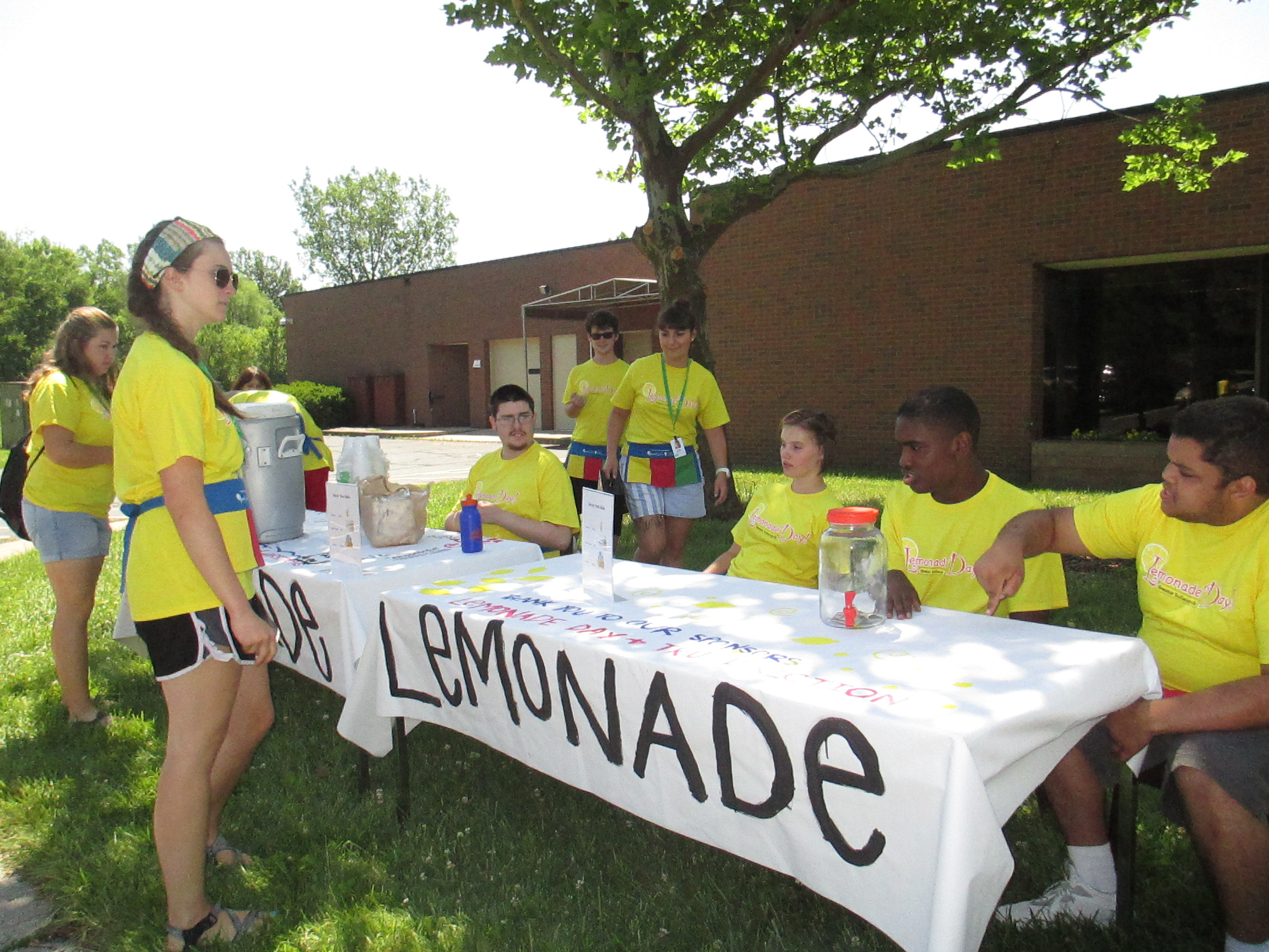 Career Exploration Campers hosted a lemonade stand this year