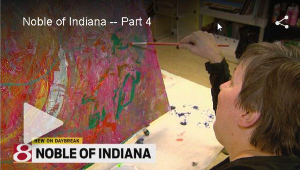 WISH-TV features Noble's Entrepreneurial Art Program
