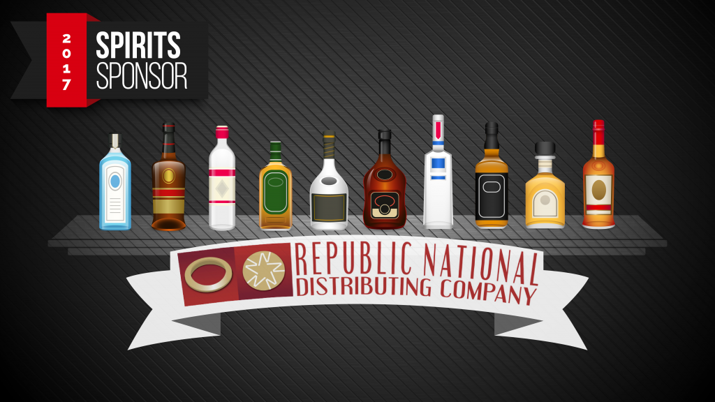 Thanks to Republic National Distributing for being our Spirits Sponsor