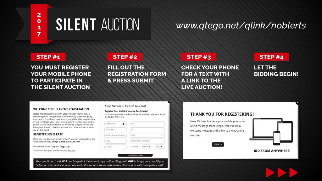 Bid early and often in our auction