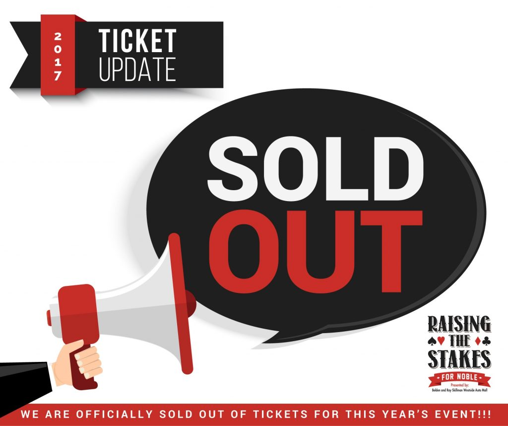 Our 2017 Raising the Stakes is sold out!