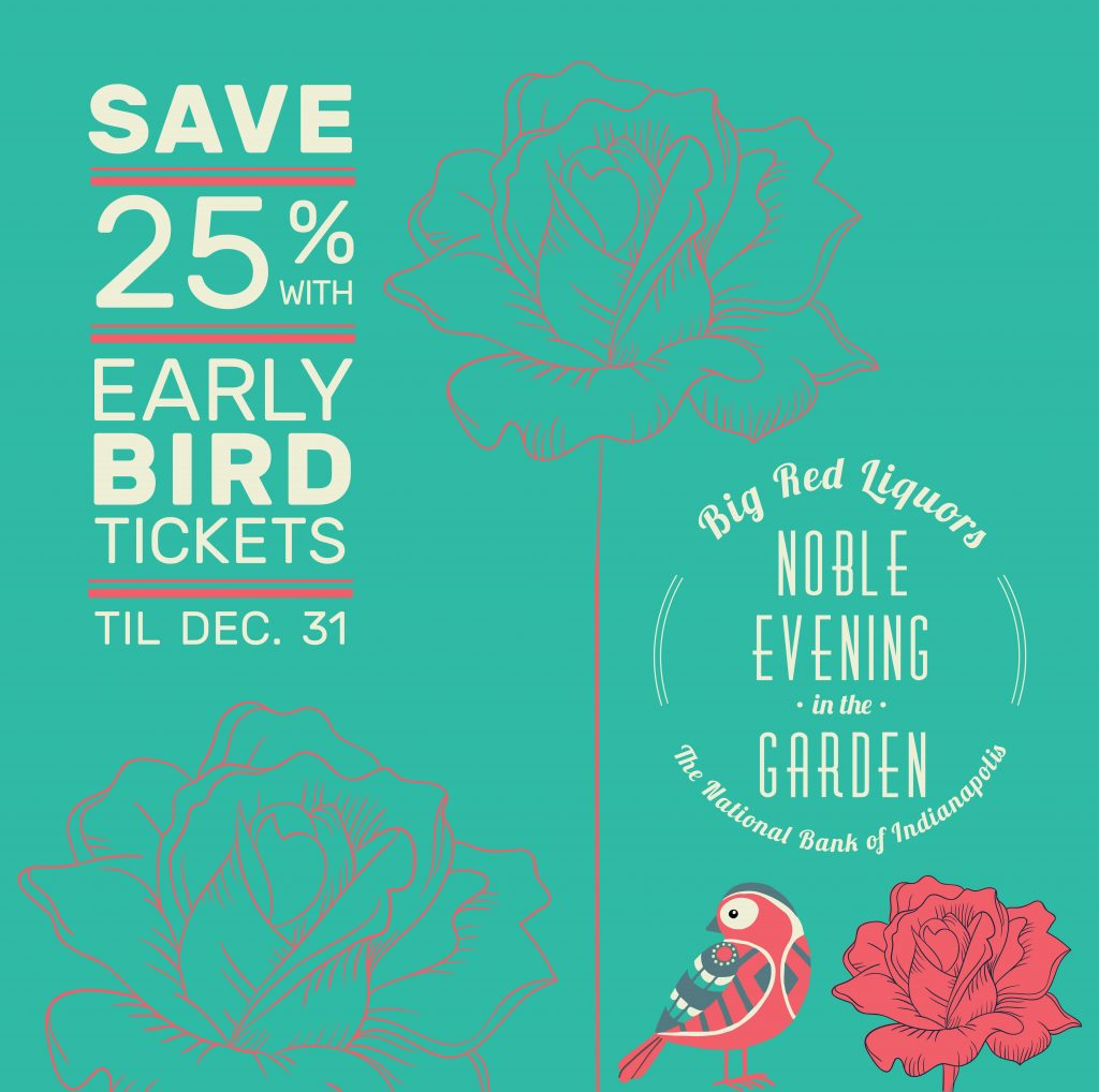 Get early bird pricing on your Evening in the Garden tickets by December 31