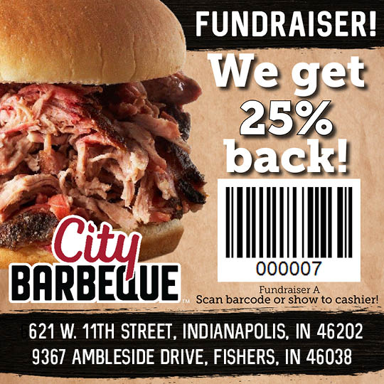 25% of proceeds from your meal at City Barbeque will help Noble