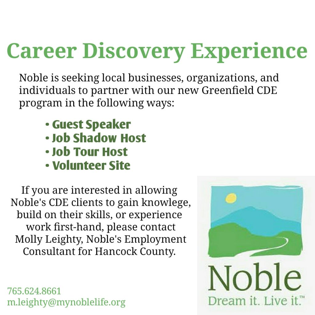 Noble to Launch Career Discovery Experience in Greenfield