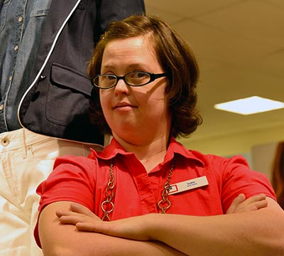 Katie working at JC Penney