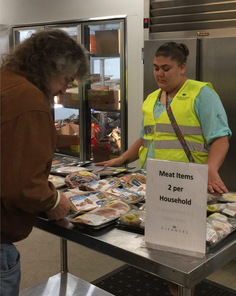 volunteering at Gleaners