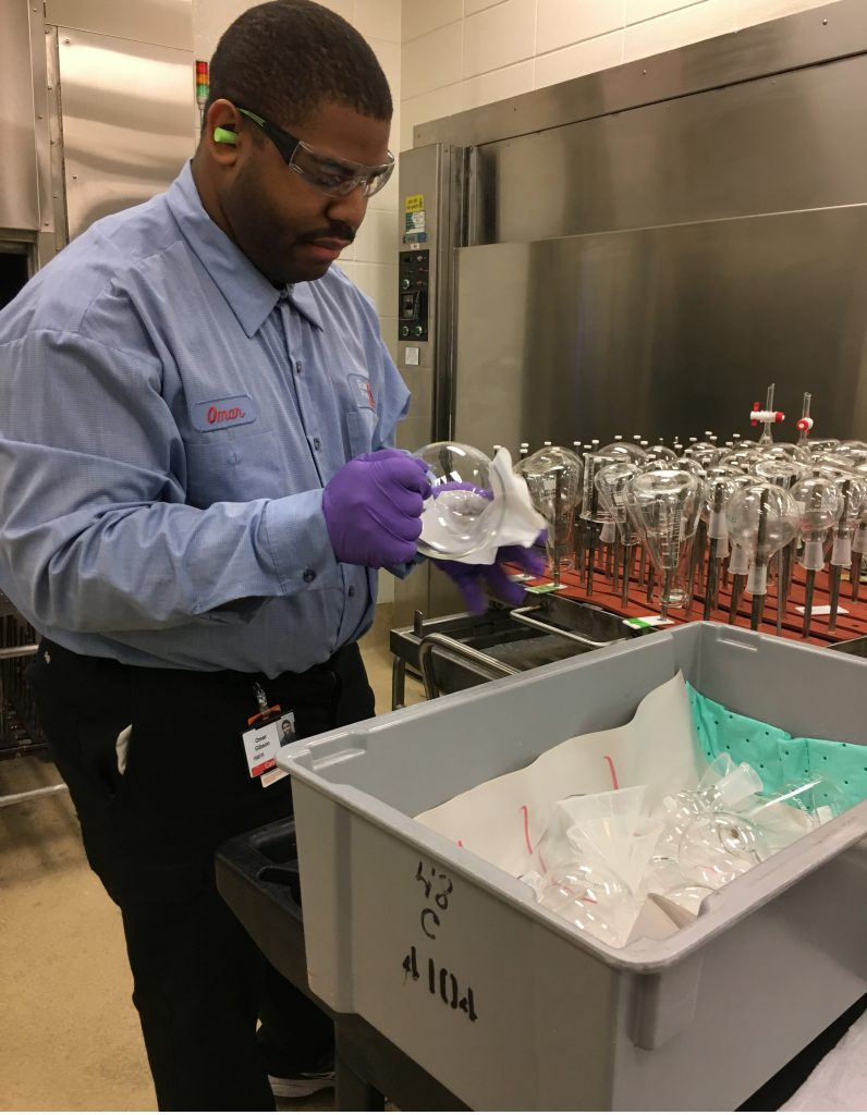 Omar loves his new job at Eli Lilly & Co.