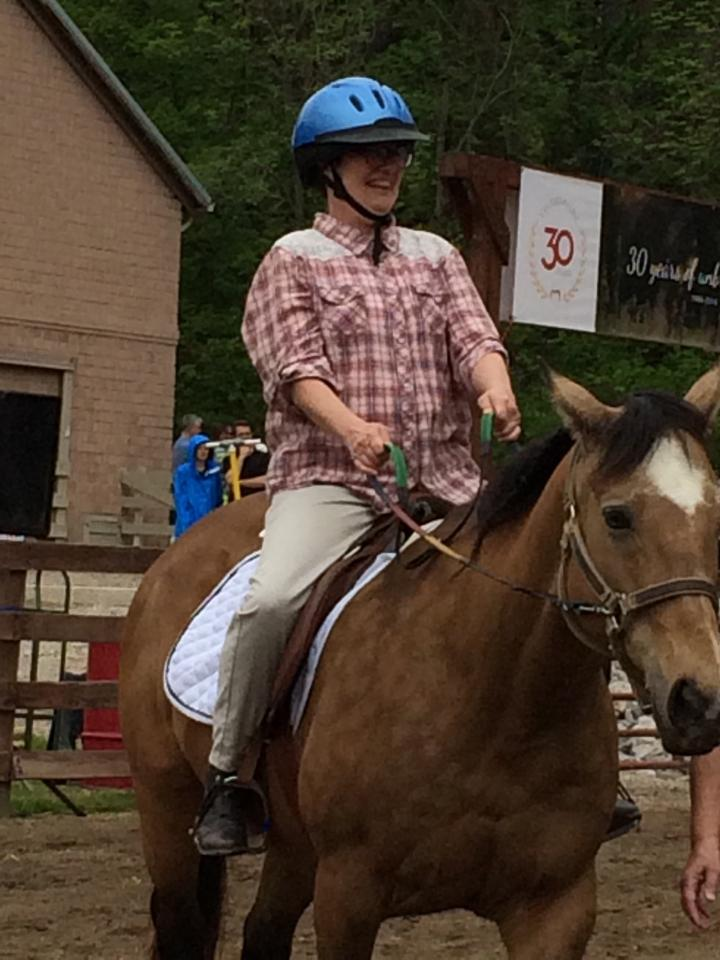 Horseback riding is one of Cathy's favorite hobbies