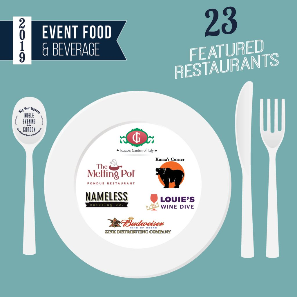 Try the 23 featured restaurants at Noble Evening in the Garden