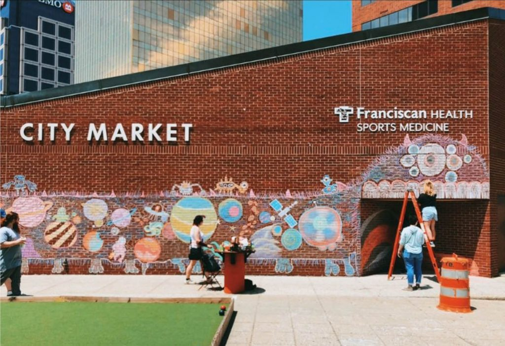Chalk It Up at the City Market on Sept. 30