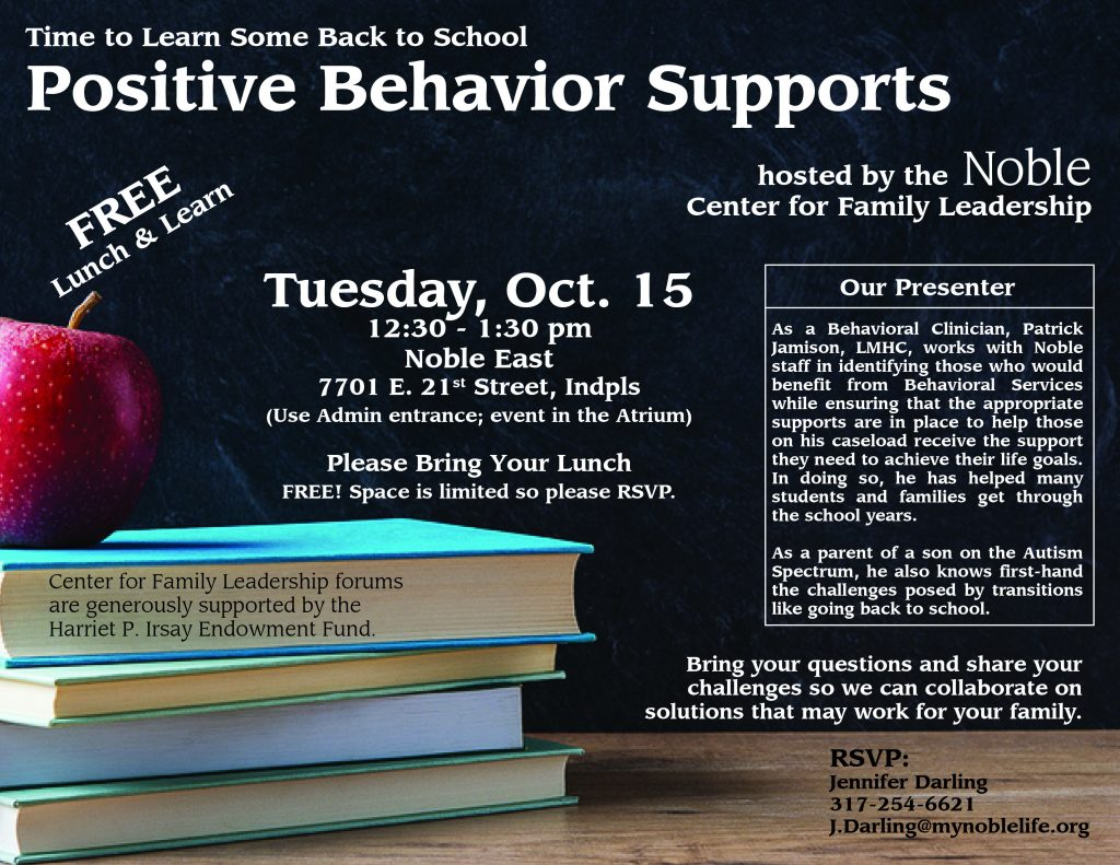 Join us for our free forum on Positive Behavior Supports