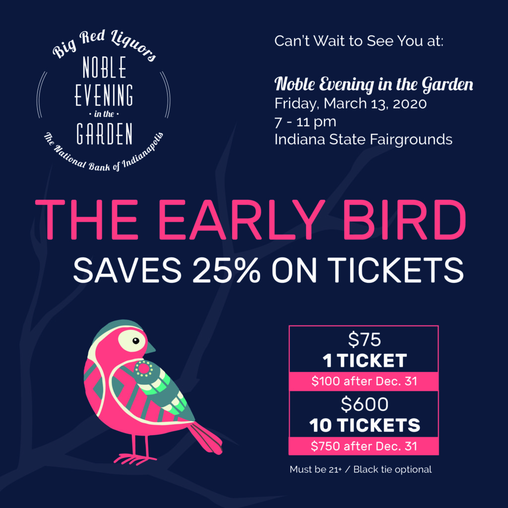 Early Bird Tickets for Noble Evening in the Garden