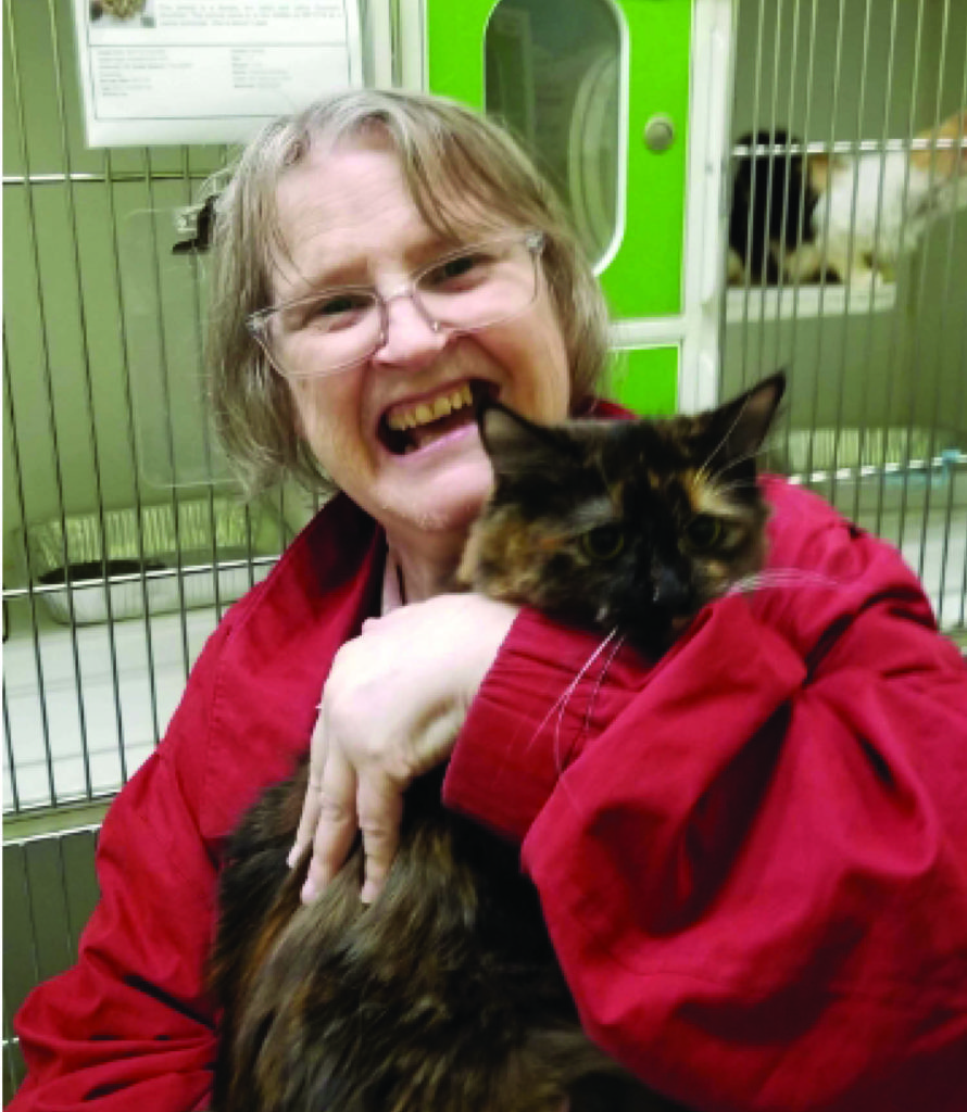 Kathy volunteering at Animal Care Services