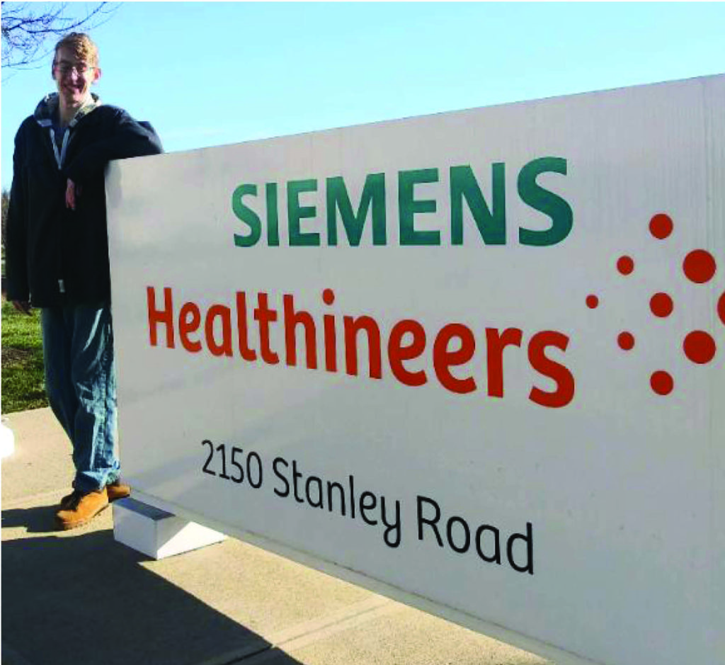 Josh is enjoying his new job at Siemens