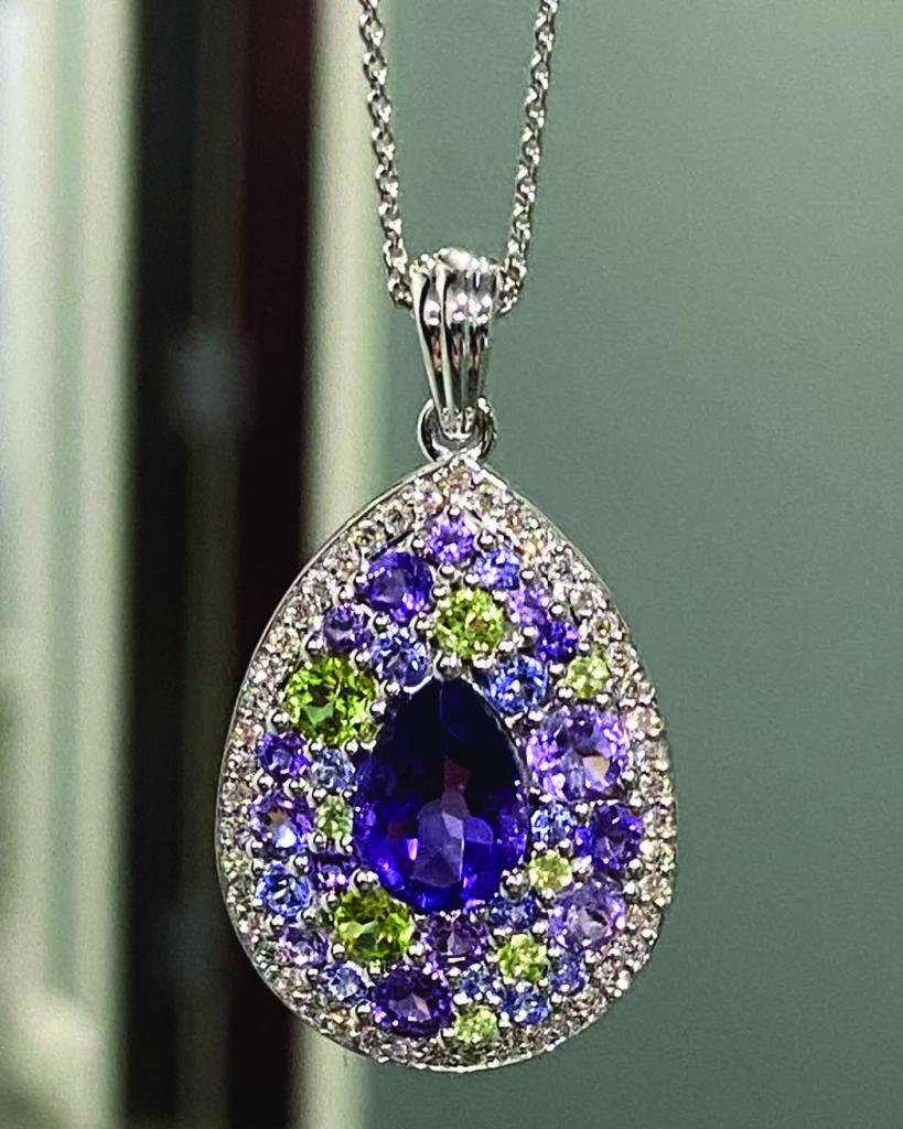 Enter our raffle for a chance to win this beautiful custom designed pendant necklace from Indy Facets