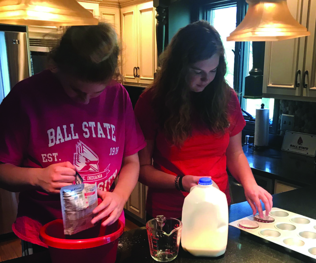 Taylor loves cooking and baking with her sister