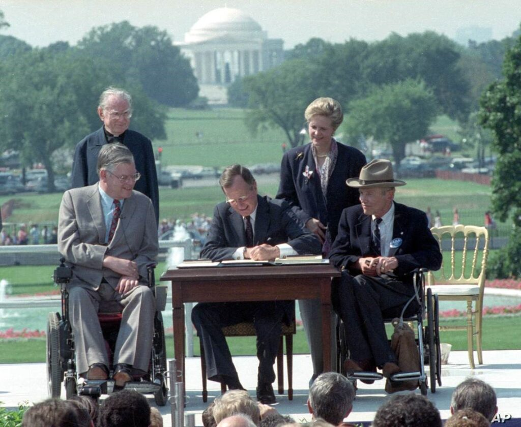 President Bush Signing ADA Into Law 30 Years Ago