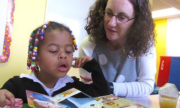 Kari receiving behavioral therapy at Noble.